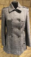 Coathouse Harris Tweed Hand Woven Pure New WooL Ladies PeacoatSize10,12,14,18,20