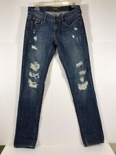 Victoria's Secret Pink Limited Edition Distressed Jeans Size 4R Insm 31