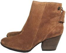 $398 Paul Green Jada Brown Suede Booties Ankle Boots  8.5 Back  Zipper Shoe