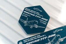 Airlinertags Cathay Pacific B777 B-HNK Green (Hexagon)
