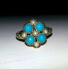 Victorian Style Gem Set Cluster Ring - REDUCED - BRAND NEW