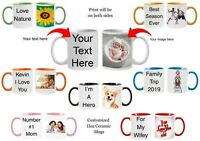 Personalized Mugs 7 Ceramic Mugs to Choose From Customized Photo Text Mug New