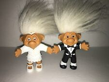Ultra Rare Norfin Trolls Posable Bride and Groom One Of A Kind 1992 Just Toys