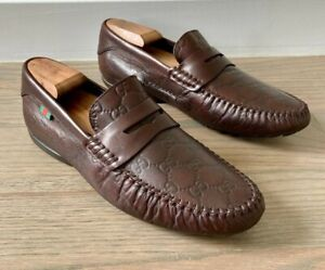 Gucci Men's Guccissima Driving Moccasins / Loafers size 8 G = US 9 *Authentic*