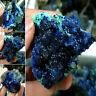 Natürliche Azurit Malachit Geode Kristall Mineral Blau Kupfer Erz Home Decor .f