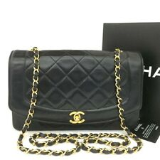 CHANEL Quilted Matelasse Diana 25 CC Logo Lambskin Chain Shoulder Bag / aABG x