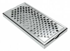 More details for stainless steel rectangular drip tray bar pub mat drink 12