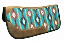 "Showman 31"" x 32"" Felt Bottom Navajo Print Western Contoured Saddle Pad! TACK!"