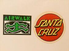 New listing AIRWALK Shoes Green Stripe Man SANTA CRUZ Skateboards Skateboarding STICKER LOT