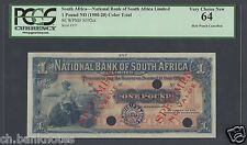 South Africa 1 Pound ND(1900-20) PS392ct Specimen Color Trial About Uncirculated