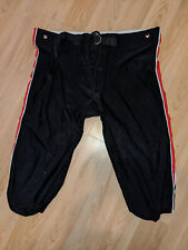 Youth Large Football Pants Black With Red Stripe
