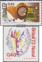 Brasilien 1407,1408 (kompl.Ausg.) postfrisch 1973 Telefon Gesellschaft, Weihnach