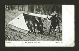 1909 - Boy Scout Postcard - Boy Scouts Tent - BITA Series Brown & Sons