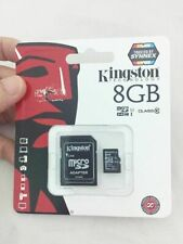 Kingston 8GB MicroSD SDHC TF Memory Card Class 10 C10 +Adapter for phone camera
