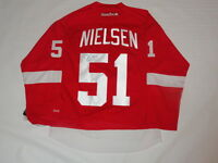 FRANS NIELSEN SIGNED RBK DETROIT RED WINGS HOME JERSEY LICENSED JSA COA