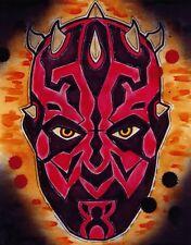 Darth Maul Star Wars the phantom menace cartoon movie decor wall art print.