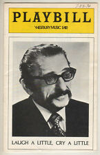 "Jan Peerce Playbill ""Laugh A Little, Cry A Little"" 1974 Tryout FLOP Leo Rosten"