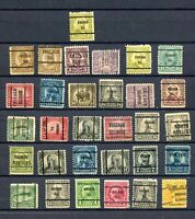 Set of 31 Used  Precancelled Stamps  - Please See Photo's  - Excellent Condition