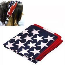 Hair Flag Scarf Band USA Cotton Bandana American And Stripes Stars
