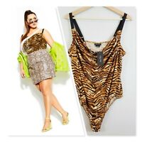 [ CITY CHIC ] Womens Tigress Bodysuit NEW + TAGS     Size L or AU 20 / US 16