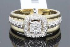 10K Oro Giallo .79 Carati da Uomo Matrimonio Fidanzamento Anello