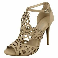 Ladies Anne Michelle Cut Out Detail Open Toe 'Heels'