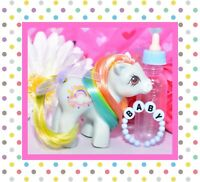 ❤️My Little Pony MLP G1 VTG 1984 BABY Rainbow Ponies Sunribbon Blue Cloud Star❤️