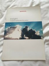 RARE, From year 2000 Honda Insight mark 1 brochure