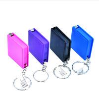 2PCS 1M Retractable Ruler Plastic Portable Mini Tape Measure With Key ChainH_js