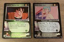 LOT 2 DBZ Dragon Ball Z-CCG FOIL CARDS -Saiyan Saga-LP-#71 & #231 -SCREAMIN DEAL