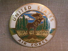 "1950's Vintage U.S. Air Force Goose Air Base Labrador Canada 3 1/2"" Brass Plaque"