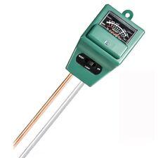 3-IN-1 SOIL TESTER HAND HELD GARDEN TOOL SOLAR POWER MOISTURE pH LIGHT U273