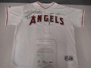 2008 ANGELS SIGNED XL MAJESTIC JERSEY (10) SIGNATURES JSA COA ADENHART JSY359