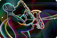 JAZZ SAXOPHONE Sign 8 x 12 MUSIC Emblem Version #1