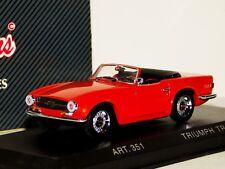 TRIUMPH TR6 1969 SPIDER RED CABRIO DETAIL CARS ART 351 1/43