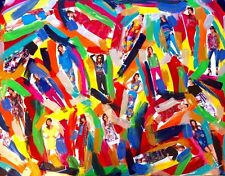 "tableau art moderne abstrait contemporain""Fashion shades"" original 60x80cm signé"