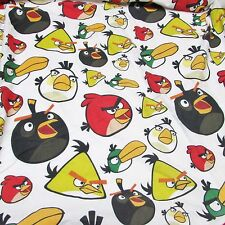 Angry Birds Twin Fitted Bed Sheet - Craft Cutter Fabric, Material