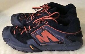 Merrell Mens Ozzy J16139 Lace Up Low Top Comfort Orange Black Hiking Shoe Sz 13