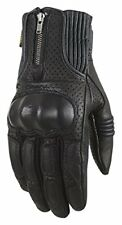 Gants noirs en peau de chèvre pour motocyclette taille XL