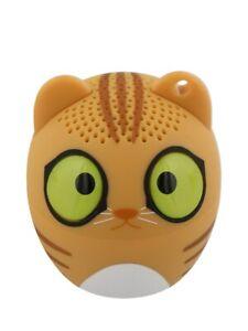 Orange Cat Portable Mini Bluetooth Speaker 4.3x4.5cm