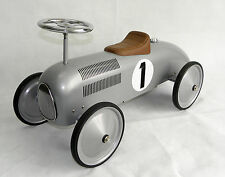 Speedster Racer Ride-On Kids Car in Silver