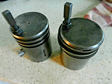 Edwards twin cylinder engine hit and miss pistons