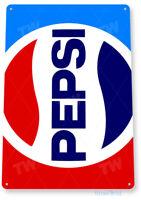 TIN SIGN Pepsi Cola Retro 80's Soda Store Sign A139
