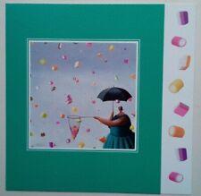 Sarah Jane Szikora Let it Rain professionally mounted rare art card