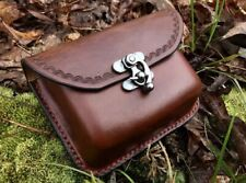 Handcrafted Wet Molded Leather Possibles Belt Pouch Hiking Bushcraft Camping