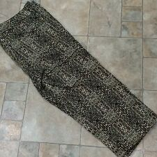 Animal Leopard Print Capri Crop Pants Cotton Spandex Stretch 14P Womens Tanjay