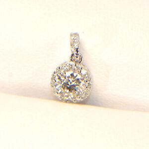 Diamant Anhänger 0,37 ct in 750er Weissgold Brillant 18 Karat rund klassisch