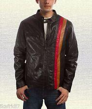 XMen Cyclops Scott Summers Handmade Brown Original Leather Jacket Size Small-5XL