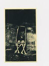 Unusual Odd Strange 1980 Photo Litho 2 Skull &  Cross Bone Coffin