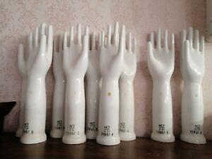 SALE Vintage West Germany Porcelain Hand Glove Display HCT  9 86 1196 4 5 9 sizе